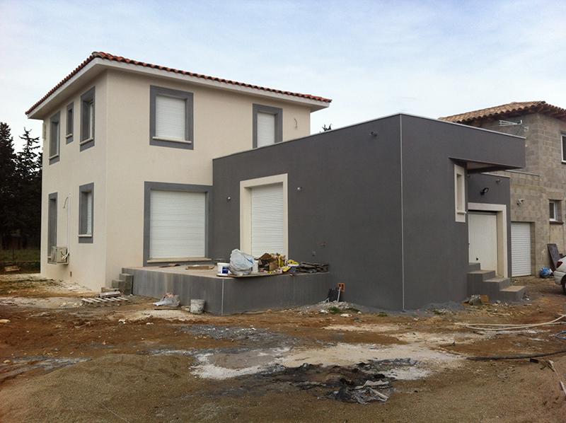 Les realisations de l 39 entreprise cr avie tp dans le gard for Entreprise de construction maison individuelle